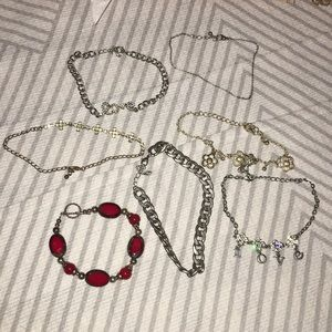 Lot 7 jewelry bracelets & ankle mixed cute